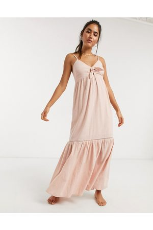 Accessorize Knot front beach maxi dress in