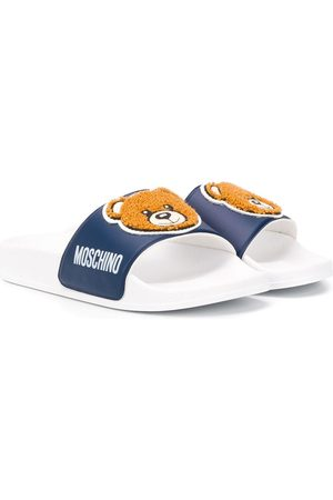 Moschino Bear print slides