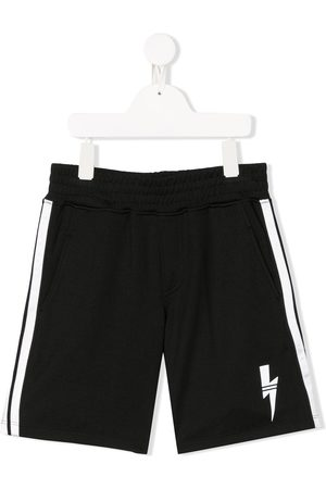Neil Barrett TEEN logo-print track shorts