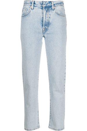 SSHEENA Striped straight-leg jeans