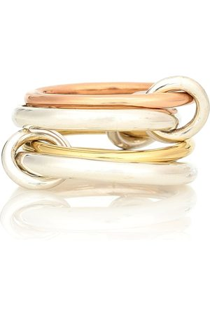 SPINELLI KILCOLLIN Hyacinth 18kt gold and sterling linked rings