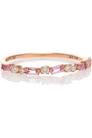 Suzanne Kalan 18kt rose gold ring with sapphires and diamonds