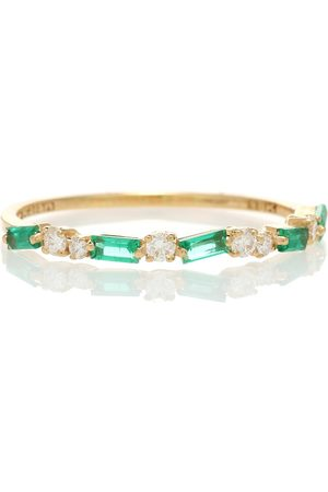 Suzanne Kalan 18kt ring with emeralds and diamonds