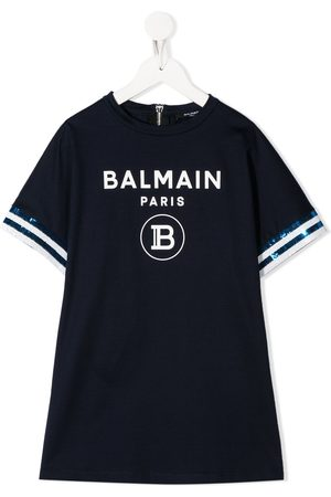 Balmain Logo print T-shirt dress