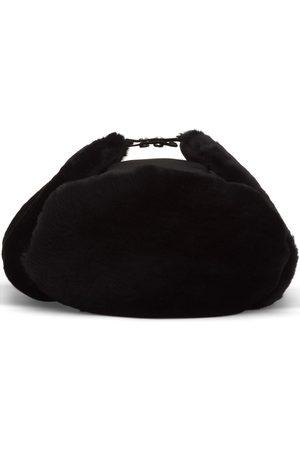 Prada Nylon and shearling hat