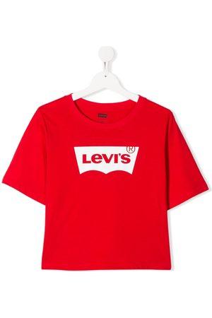 Levi's TEEN logo-print crew neck T-shirt