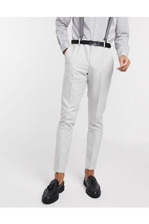 ASOS Wedding skinny suit trousers in brushed twill in ice