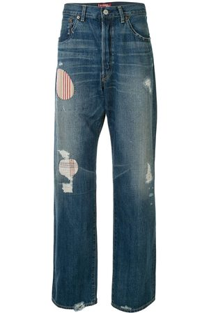 JUNYA WATANABE Striped patches straight jeans