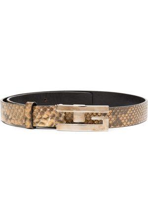 Gucci Snake-print effect buckle belt