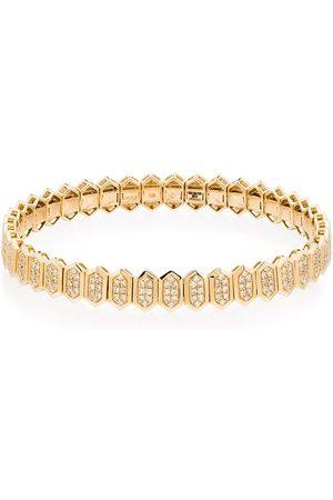 Shay 18kt hexagon pavé diamond bracelet