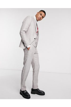 Twisted Tailor Slim linen suit trousers in