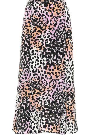 VERONICA BEARD Diane stretch-silk midi skirt
