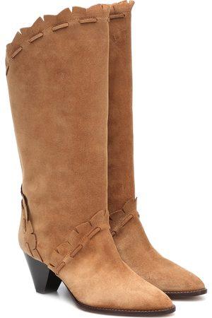 Isabel Marant Women Cowboy & Biker Boots - Leesta suede boots