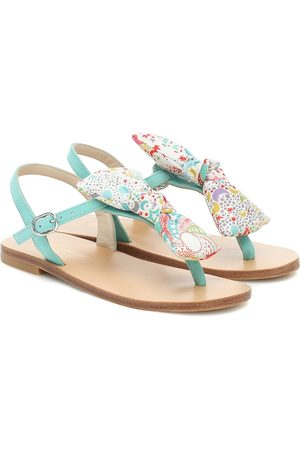 BONPOINT Tammie bow-trimmed leather sandals