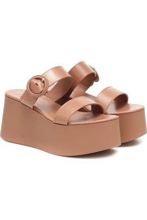Gianvito Rossi Women Platform Sandals - Leather platform sandals
