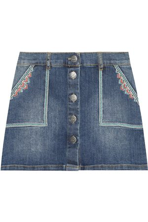 BONPOINT Exie embroidered denim skirt