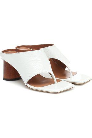 REJINA PYO Lina leather thong sandals