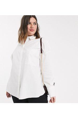 ASOS Women Long sleeves - ASOS DESIGN Curve long sleeve boyfriend shirt in