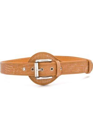 Gianfranco Ferré 1990 textured buckle belt