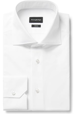 Ermenegildo Zegna Trofeo Cutaway-Collar Cotton-Poplin Shirt