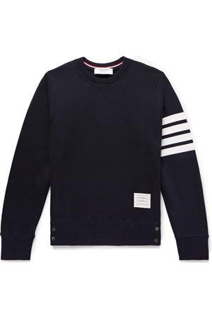 Thom Browne Slim-Fit Striped Loopback Cotton-Jersey Sweatshirt