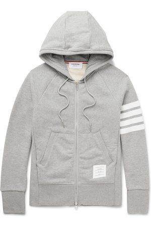 Thom Browne Striped Loopback Cotton-Jersey Zip-Up Hoodie