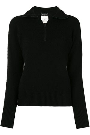 CHANEL 1996s back print long sleeve knit tops