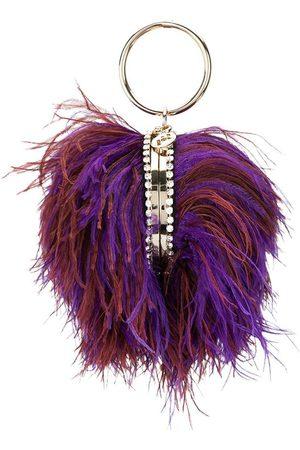 ROSANTICA Ostrich feather-embellished bag