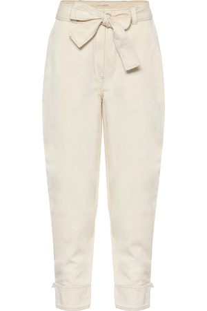 ULLA JOHNSON Levi cotton and linen carrot pants
