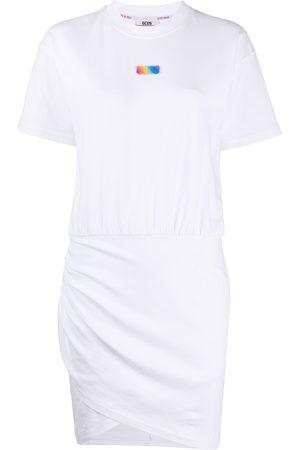 GCDS Draped detail dress