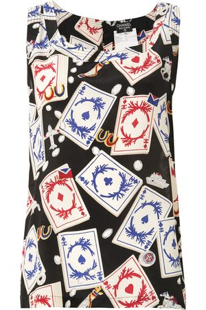 CHANEL Playing card print vest