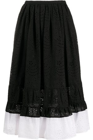 Nº21 Two-tone embroidered mid skirt