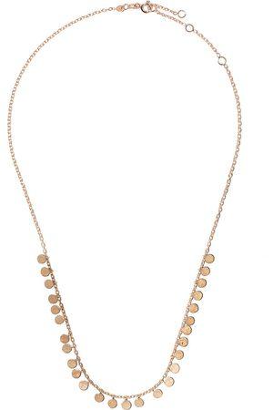Milka 14kt dangle disc necklaces
