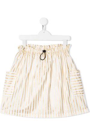 Andorine Striped pull-on skirt