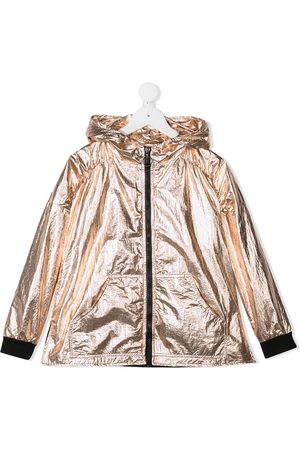 Le pandorine Metallized hooded jacket