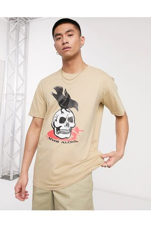 Blood Brother Men Short Sleeve - Printed t-shirt in stone