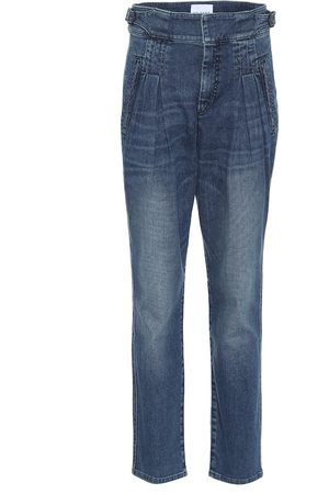 Colovos Box Pleat high-rise jeans