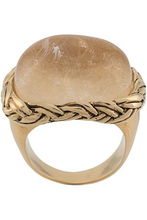 Goossens Babylone braided crystal ring