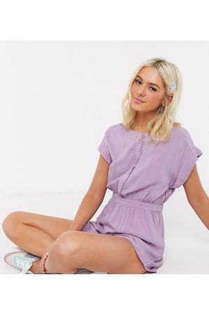 Wednesday's Girl Relaxed button front playsuit