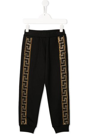 Young Versace Crystal-embellished joggers
