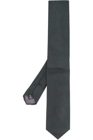 Gianfranco Ferré 1990s square textured straight tie