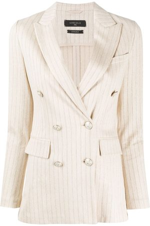 Circolo Striped double-breasted blazer