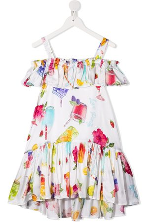 MONNALISA Drink print ruffle dress