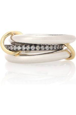 SPINELLI KILCOLLIN Libra Noir sterling and 18kt gold rings with diamonds