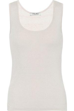 Max Mara Sonia cotton-blend knit tank top