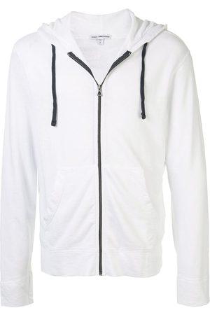 James Perse Plain zipped hoodie