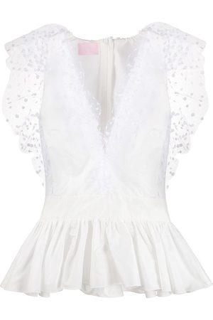 Giamba Peplum fitted blouse