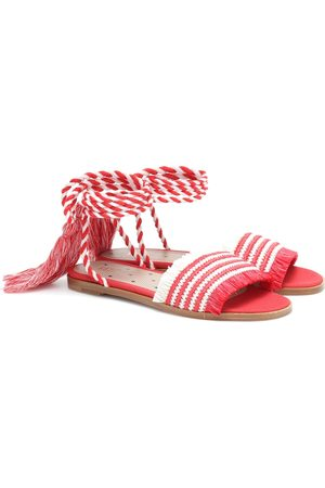 RED (V) Raffia sandals