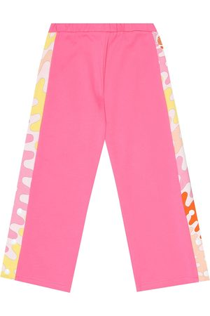 Emilio Pucci Kids Cotton-jersey trackpants