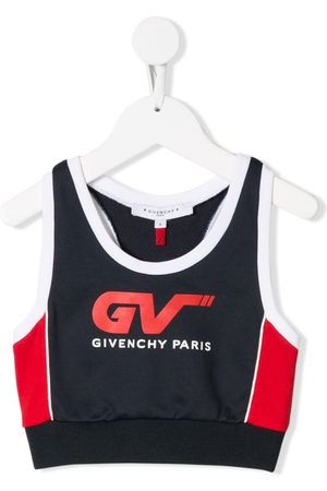 Givenchy Girls Camisoles - Logo print cropped vest